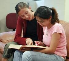 Instructor Helping a student.